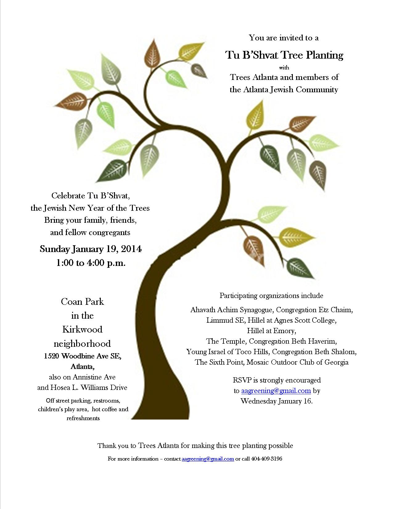 Tu B'Shevat Tree Planting - Event - Young Israel of Toco Hills