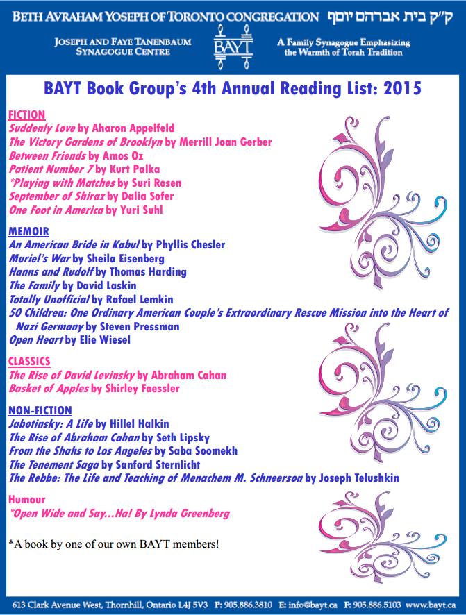Book Group List 120