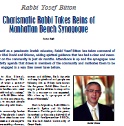Rabbi Takes Reins