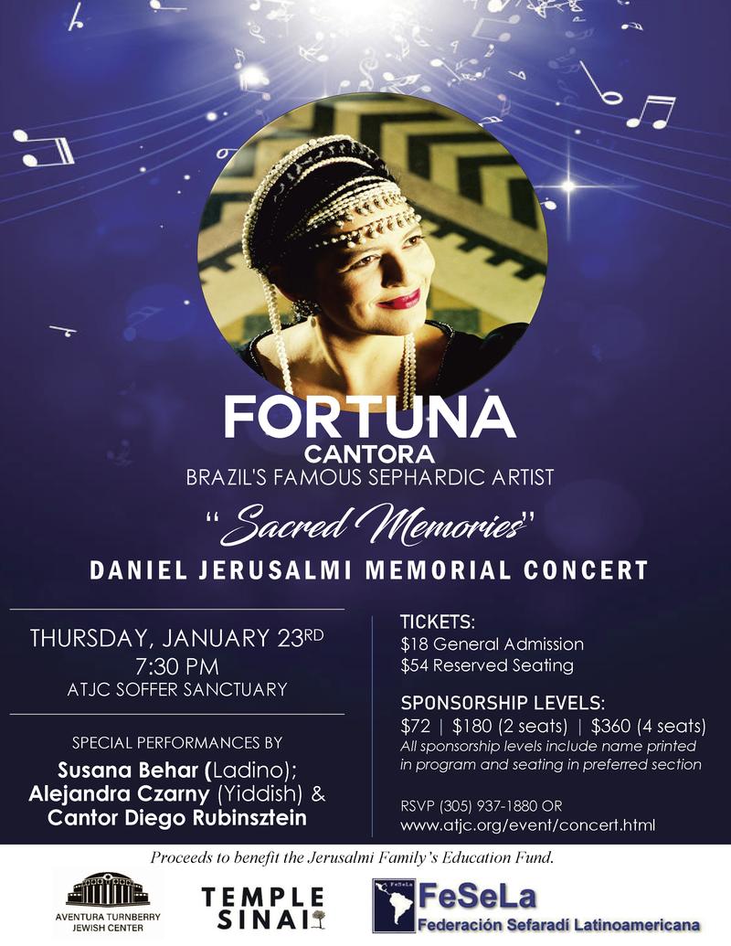 Fortuna Sacred Memories Benefit Concert