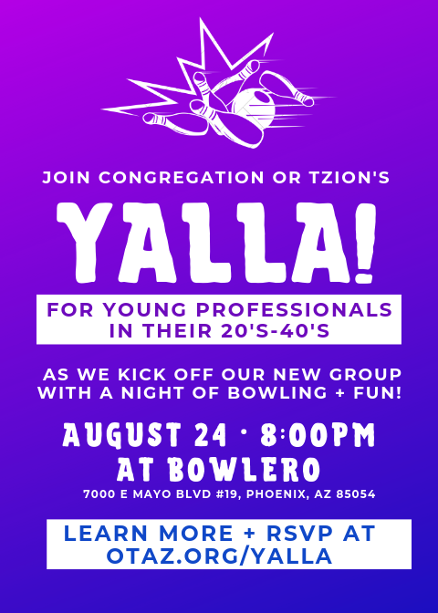 Yalla! Bowling Night - Event - Congregation Or Tzion