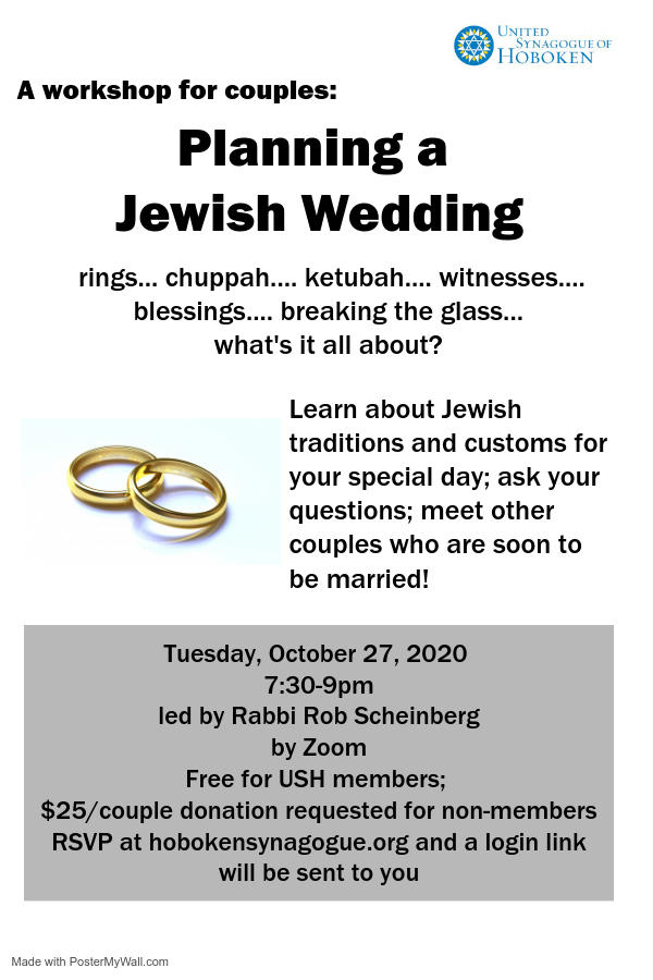 Banner Image for Planning a Jewish wedding - Workshop for couples