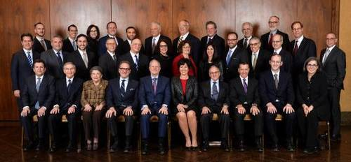 Outgoing Board of Trustees