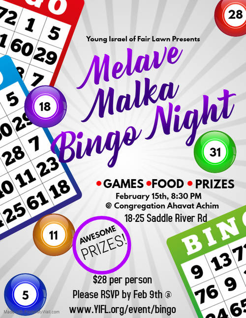 Banner Image for Melave Malke Bingo Night