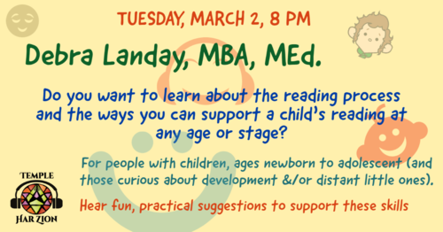 Banner Image for Help a child learn to read with Debra Landay