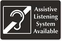 Assistive listening system available symbol