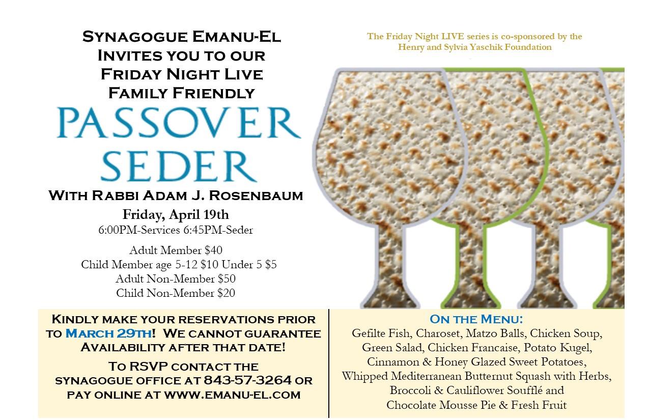 Banner Image for FNL: Family-friendly Passover Seder