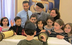 Children Looking at Torah