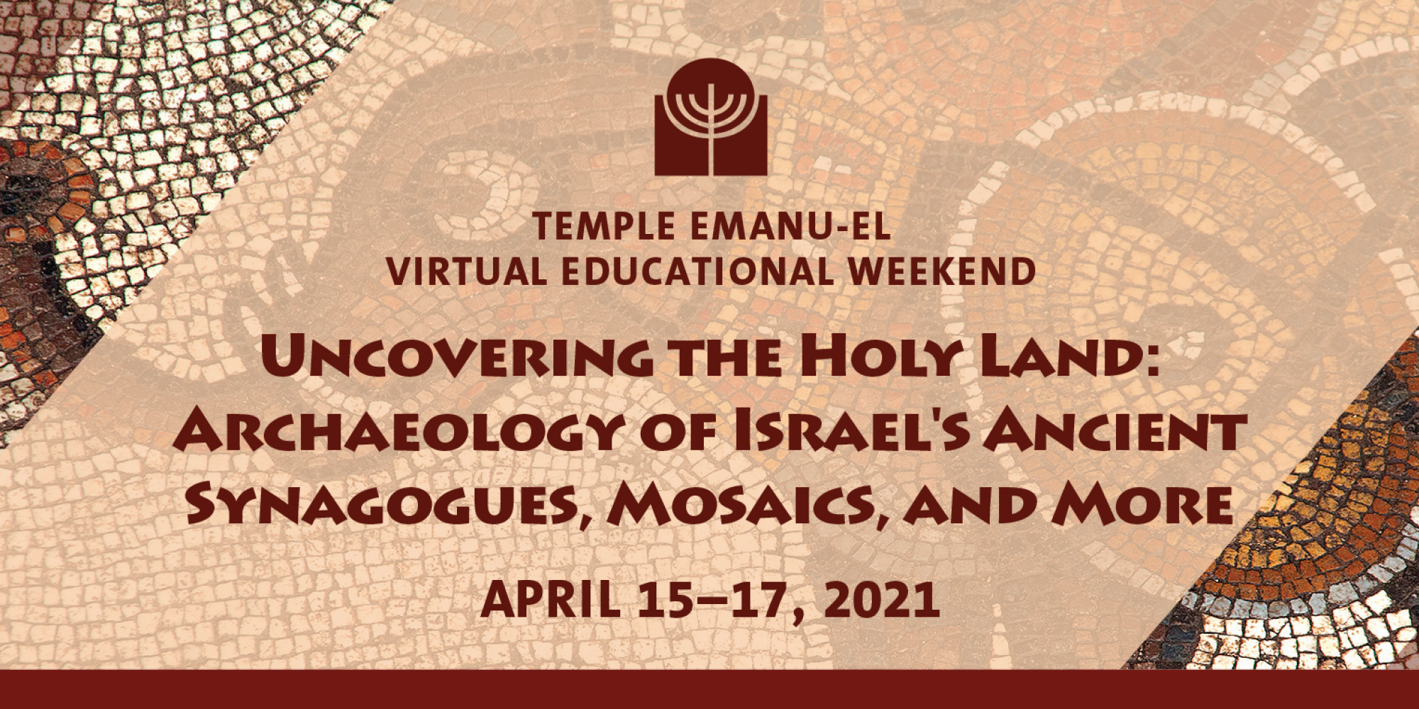 """<a href=""""https://www.teprov.org/form/Holyland""""                                     target="""""""">                                                                 <span class=""""slider_title"""">                                     Virtual Educational Weekend                                </span>                                                                 </a>                                                                                                                                                                                       <span class=""""slider_description"""">Join us for our Virtual Educational Weekend with Scholar-in-Residence, Jodi Magness. <a href=""""https://www.teprov.org/Holyland"""">Click here</a> for more information!</span>                                                                                     <a href=""""https://www.teprov.org/form/Holyland"""" class=""""slider_link""""                             target="""""""">                             Click here to register                            </a>"""