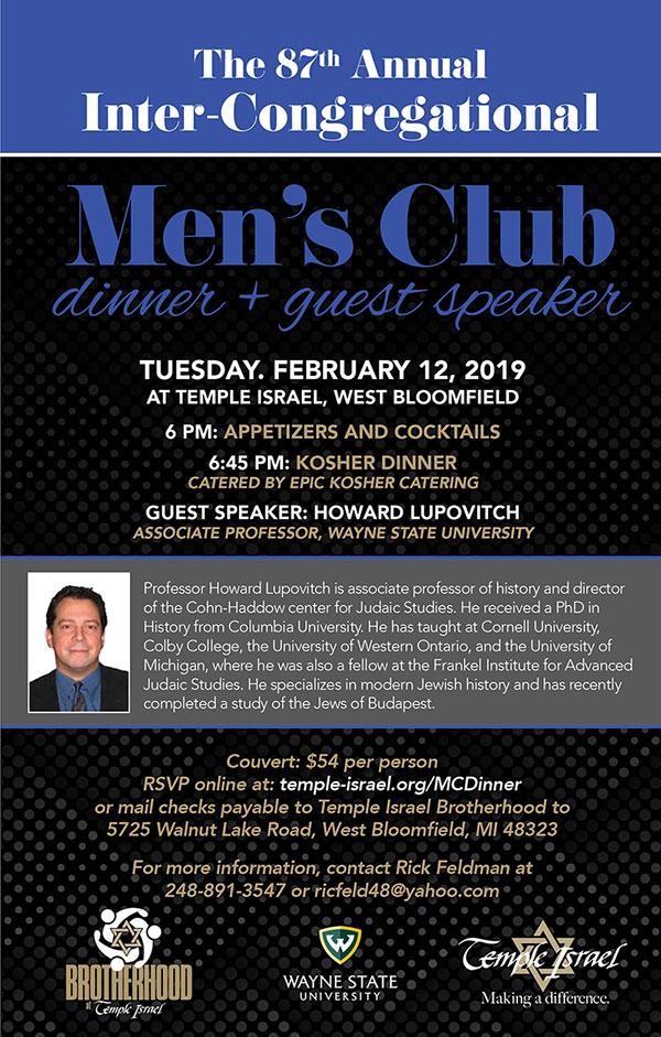 Men's Club Inter-Congregational Dinner and Speaker - Event