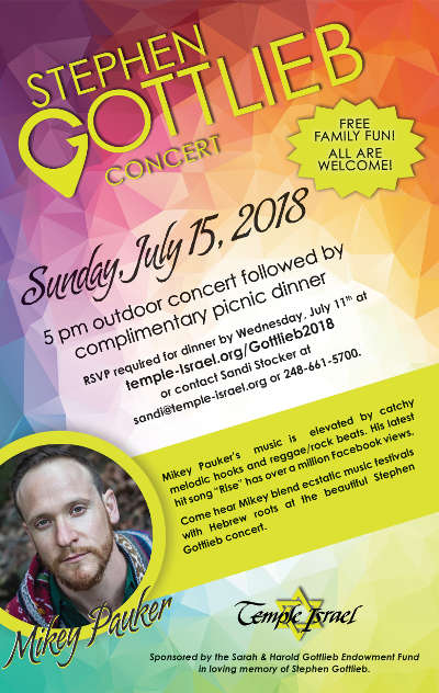 Temple Israel Music - Gottlieb Concert 2018
