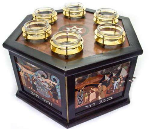 Temple Israel of Michigan - Museum - Wooden Seder Plate