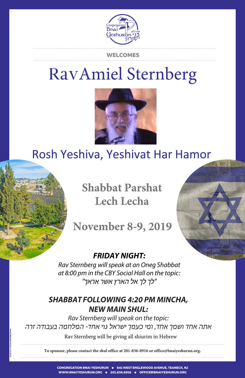 Banner Image for Oneg with Rav Sternberg