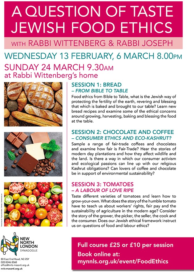 A Question of Taste - Jewish Food Ethics - Event - NNLS