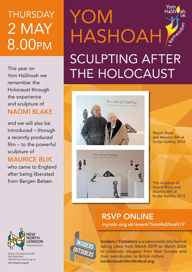 Banner Image for Yom HaShoah Service and Sculpting after the Holocaust