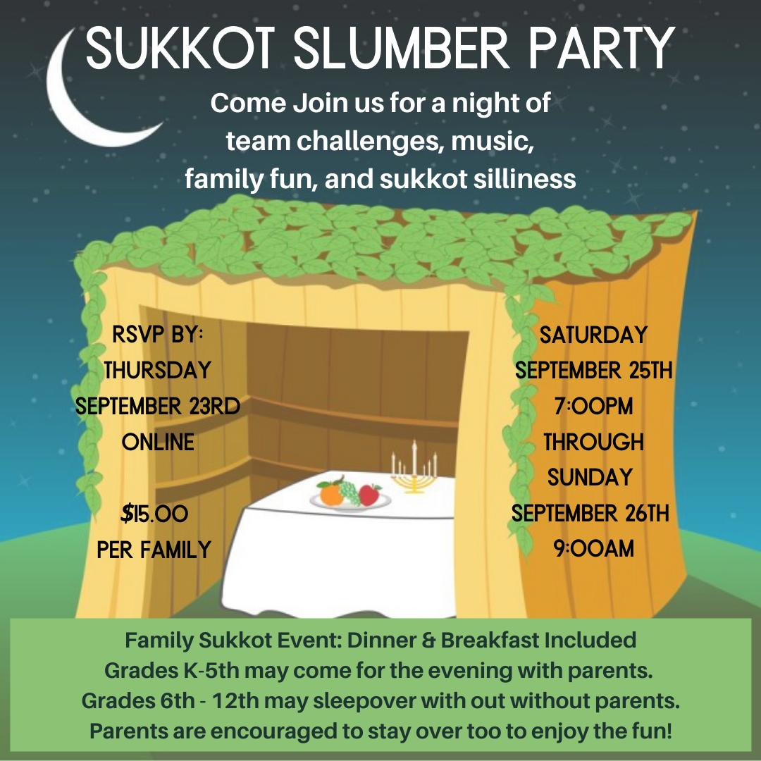 Banner Image for Family Sukkot Sleepover