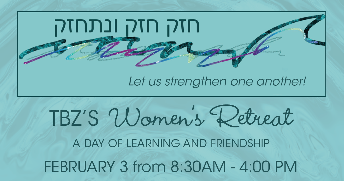 """<a href=""""https://www.tbzbrookline.org/event/womens-retreat.html""""                                     target="""""""">                                                                 <span class=""""slider_title"""">                                     TBZ Women&#039;s Retreat: A Day of Learning and Friendship                                </span>                                                                 </a>                                                                                                                                                                                       <span class=""""slider_description"""">REGISTRATION DEADLINE JANUARY 27TH! Join us for an exciting day of thinking, planning, Jewish learning, and community, including events such as: a plenary session with State Representative Ruth Balser, a panel of women Rabbis celebrating Rav Claudia becoming Senior Rabbi at TBZ next summer, and sessions throughout the day led by TBZ members.</span>                                                                                     <a href=""""https://www.tbzbrookline.org/event/womens-retreat.html"""" class=""""slider_link""""                             target="""""""">                             LEARN MORE & REGISTER                            </a>"""