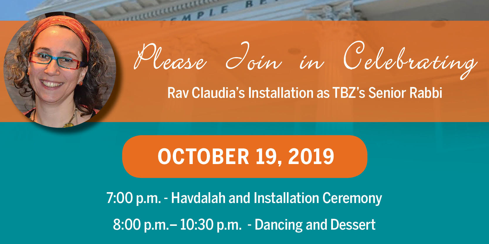 """<a href=""""https://www.tbzbrookline.org/event/installation""""                                     target="""""""">                                                                 <span class=""""slider_title"""">                                     Celebrate Rav Claudia's Installation As Our Senior Rabbi                                </span>                                                                 </a>                                                                                                                                                                                       <span class=""""slider_description"""">Join us at 7pm for Havdalah and the Ceremony, then enjoy dessert and dancing from 8pm on.</span>                                                                                     <a href=""""https://www.tbzbrookline.org/event/installation"""" class=""""slider_link""""                             target="""""""">                             LEARN MORE & RSVP                            </a>"""