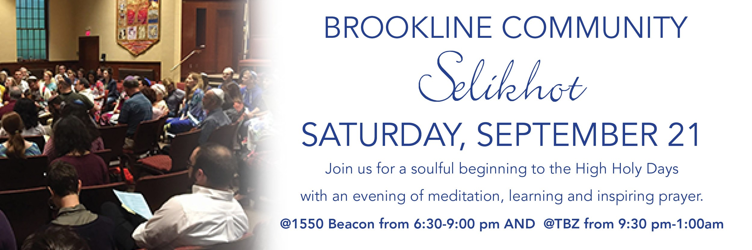 """<a href=""""https://www.tbzbrookline.org/event/selikhot2019""""                                     target="""""""">                                                                 <span class=""""slider_title"""">                                     Selikhot at TBZ                                </span>                                                                 </a>                                                                                                                                                                                       <span class=""""slider_description"""">Join us for a soulful and contemplative beginning to the High Holidays.</span>                                                                                     <a href=""""https://www.tbzbrookline.org/event/selikhot2019"""" class=""""slider_link""""                             target="""""""">                             LEARN MORE                            </a>"""