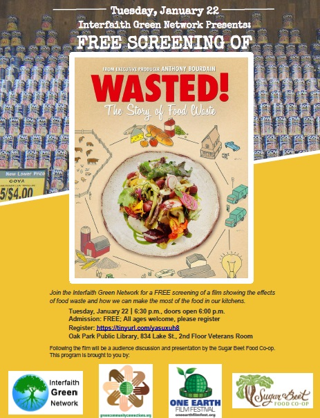 Parshat Hashavua January 9 2019 Calendar WASTED! THE STORY OF FOOD WASTE.   Event   Oak Park Temple B'nai
