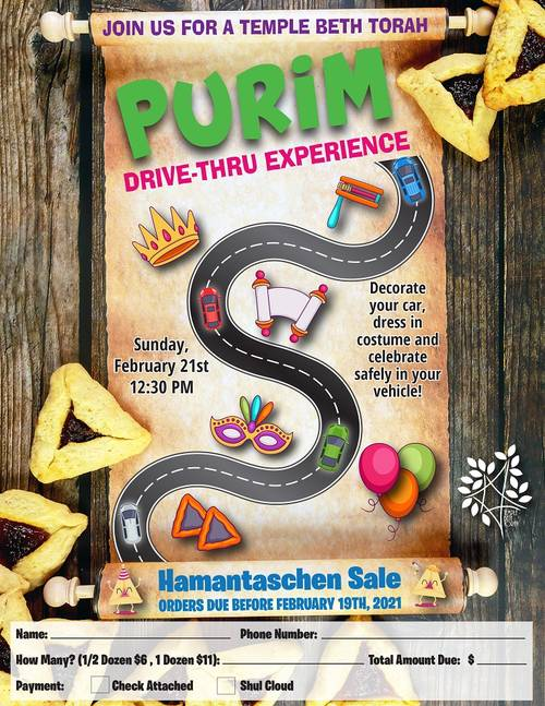 Banner Image for Purim Drive-Thru Experience