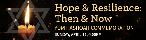Banner Image for Yom HaShoah: Beth Abraham, Beth Jacob, and Temple Sinai Join Together for a Commemoration