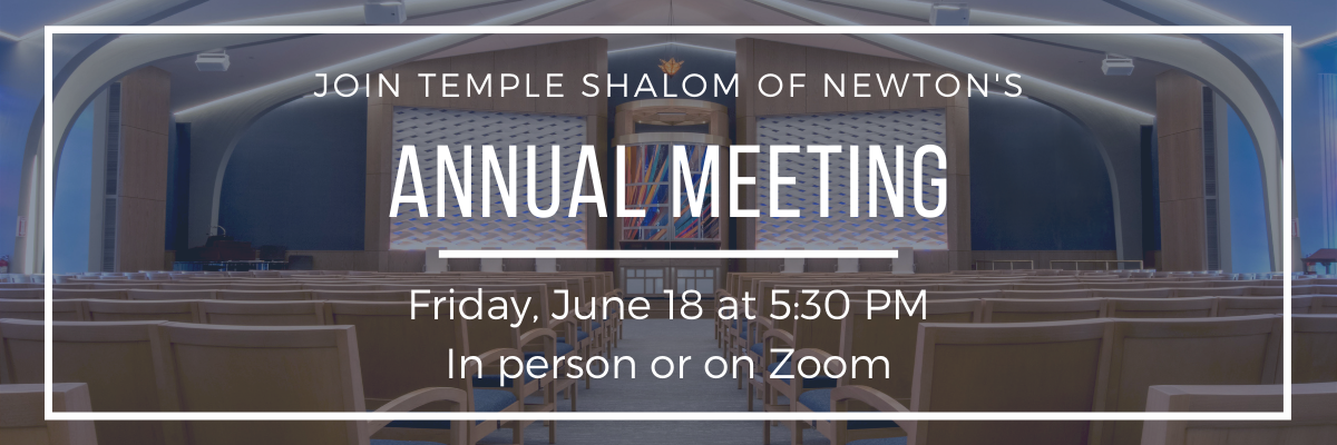 Banner Image for Temple Shalom Annual Meeting
