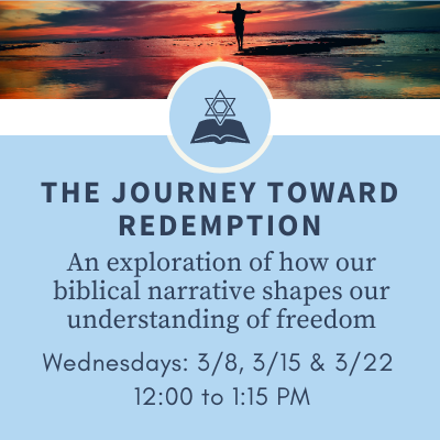 Banner Image for The Journey Toward Redemption: An exploration of how our biblical narrative shapes our understanding of freedom