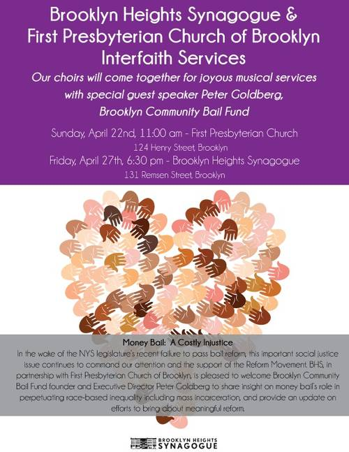 Interfaith Shabbat Evening Service with First Presbyterian Church