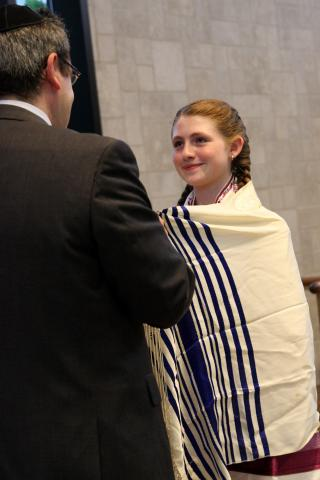 Receiving a Bat Mitzvah Blessing