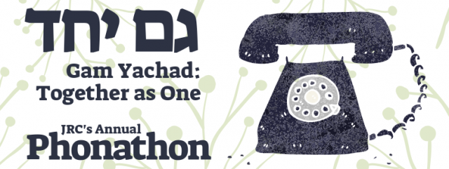 """</a>                                                                                                                                                                                       <span class=""""slider_description"""">Our annual Phonathon ensures JRC will continue to offer the great programming, services, and support for our wonderful community.</span>                                                                                     <a href=""""https://jewishreconstructionistcongregation.shulcloud.com/form/phonathon-2020.html"""" class=""""slider_link""""                             target=""""_blank"""">                             Give to the Phonathon Today                            </a>"""