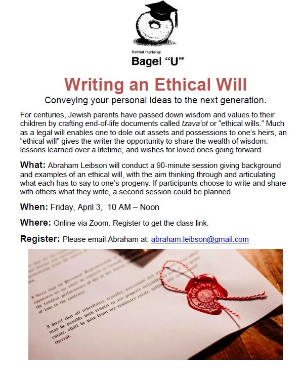 Banner Image for Writing an Ethical Will