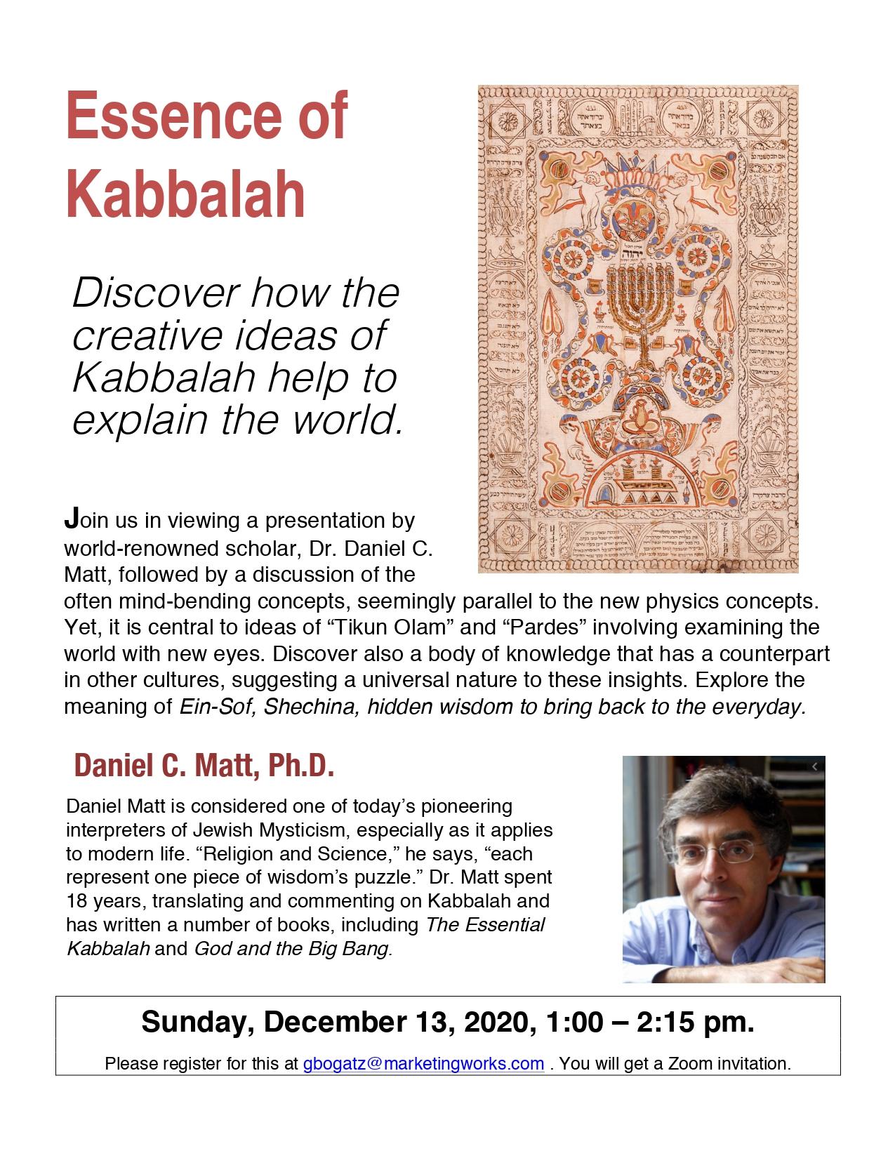Banner Image for Essence of Kabbalah