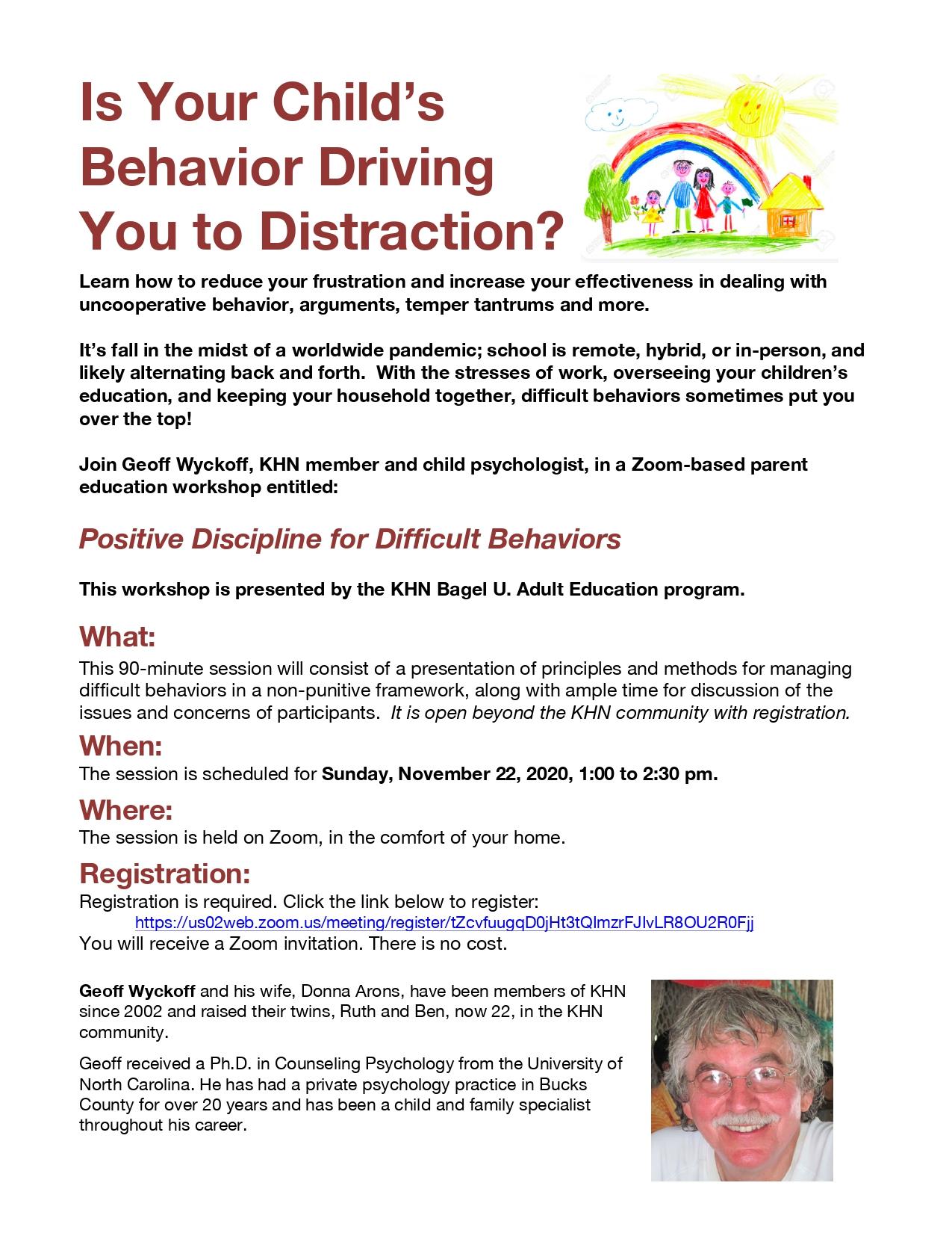 Banner Image for Positive Discipline for Difficult Behaviors