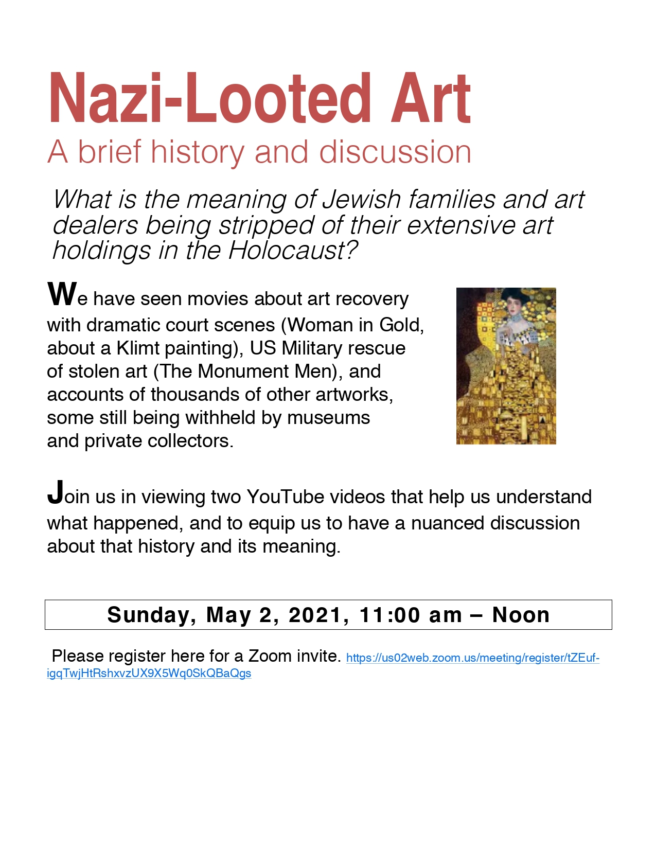 Banner Image for Nazi Looted Art: Brief history & discussion
