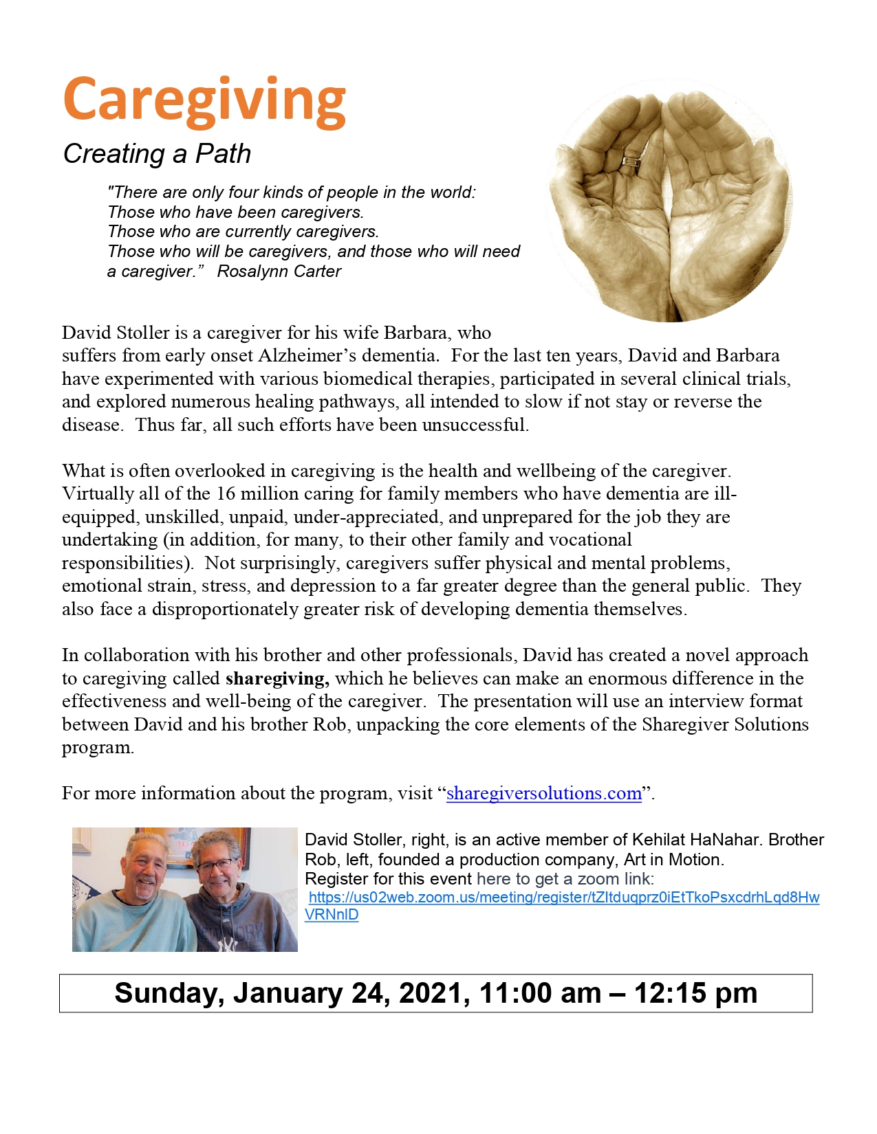 Banner Image for Caregiving: Creating a Path