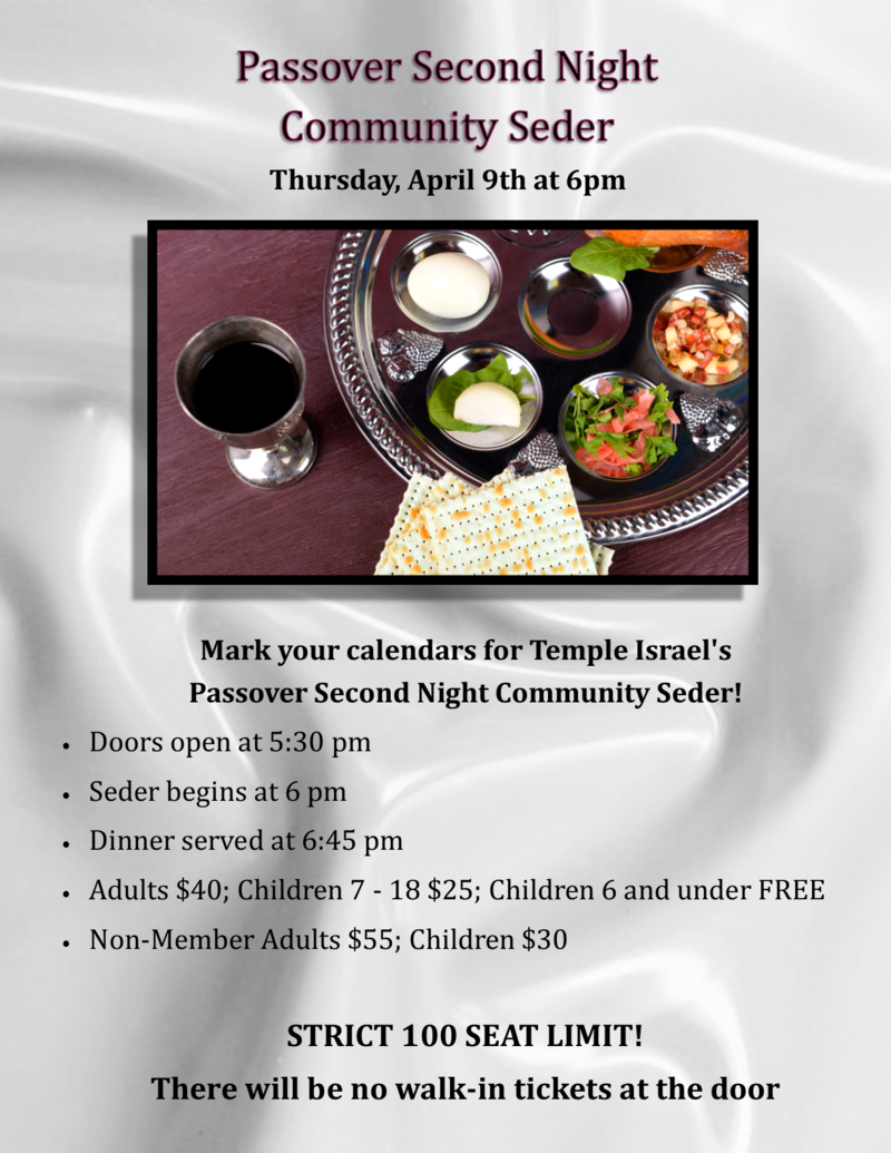Banner Image for Passover 2nd Night Community Seder