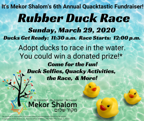 Banner Image for POSTPONED:  Rubber Duck Race: It's Fun and a Fundraiser!