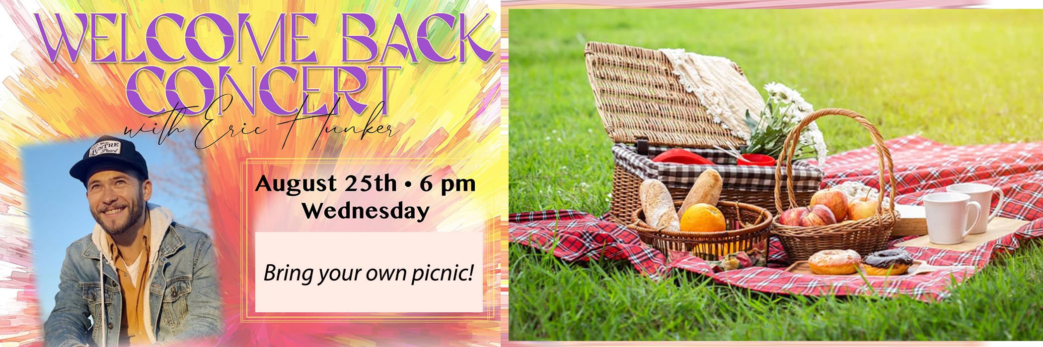 """<a href=""""https://www.kilv.org/event/welcome-back-picnic-and-concert.html""""                                     target="""""""">                                                                 <span class=""""slider_title"""">                                     Welcome Back Concert and Picnic!                                </span>                                                                 </a>                                                                                                                                                                                       <span class=""""slider_description"""">Join us 8/25 for a Welcome Back Picnic and Concert with Eric Hunker.</span>                                                                                     <a href=""""https://www.kilv.org/event/welcome-back-picnic-and-concert.html"""" class=""""slider_link""""                             target="""""""">                             Click to Register                            </a>"""