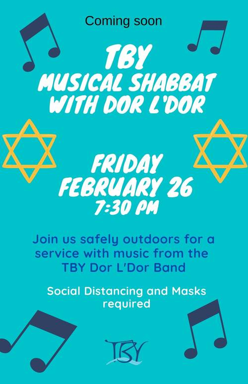 Banner Image for Shabbat Service with Dor L'Dor Band