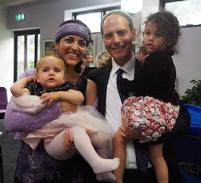 Rabbi Sadoff and family