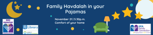 Banner Image for Family Havdalah in your Jammies