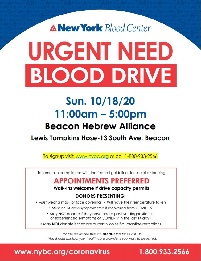 Banner Image for BHA Blood Drive at Lewis Tompkins Hose Fire Station