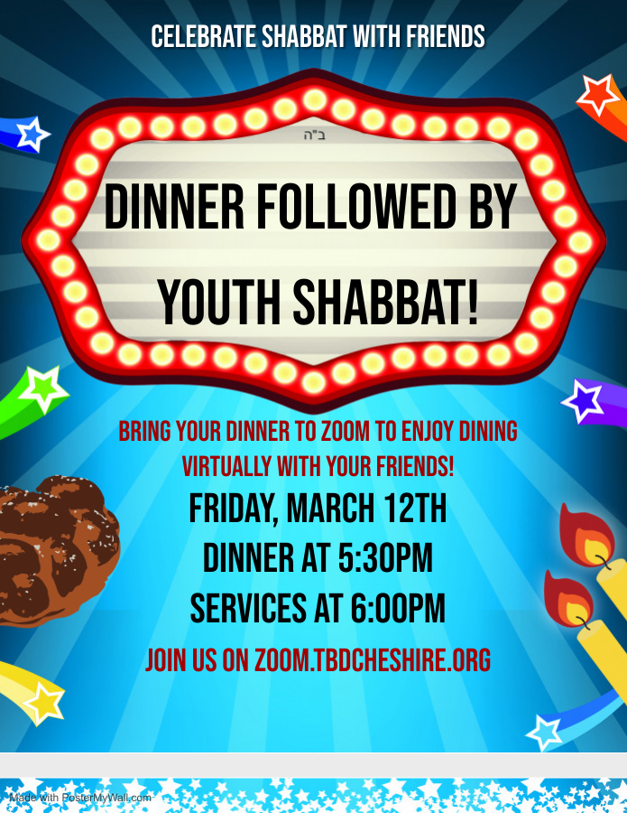Banner Image for Virtual Dinner and Youth Shabbat Services