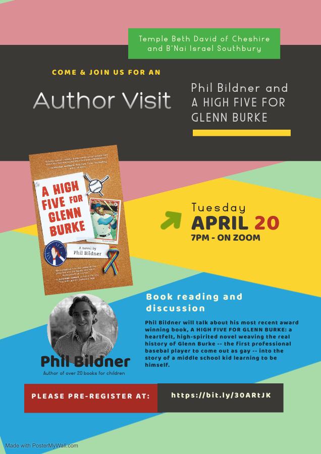 Banner Image for Author Visit: Phil Bildner and A HIGH FIVE FOR GLENN BURKE