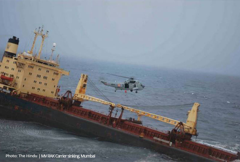 Adani ship sinking