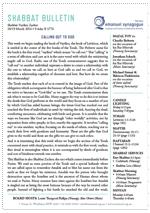 Shabbat Bulletin