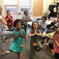 1st Grade at Beth Shalom doing Alef Bet yoga