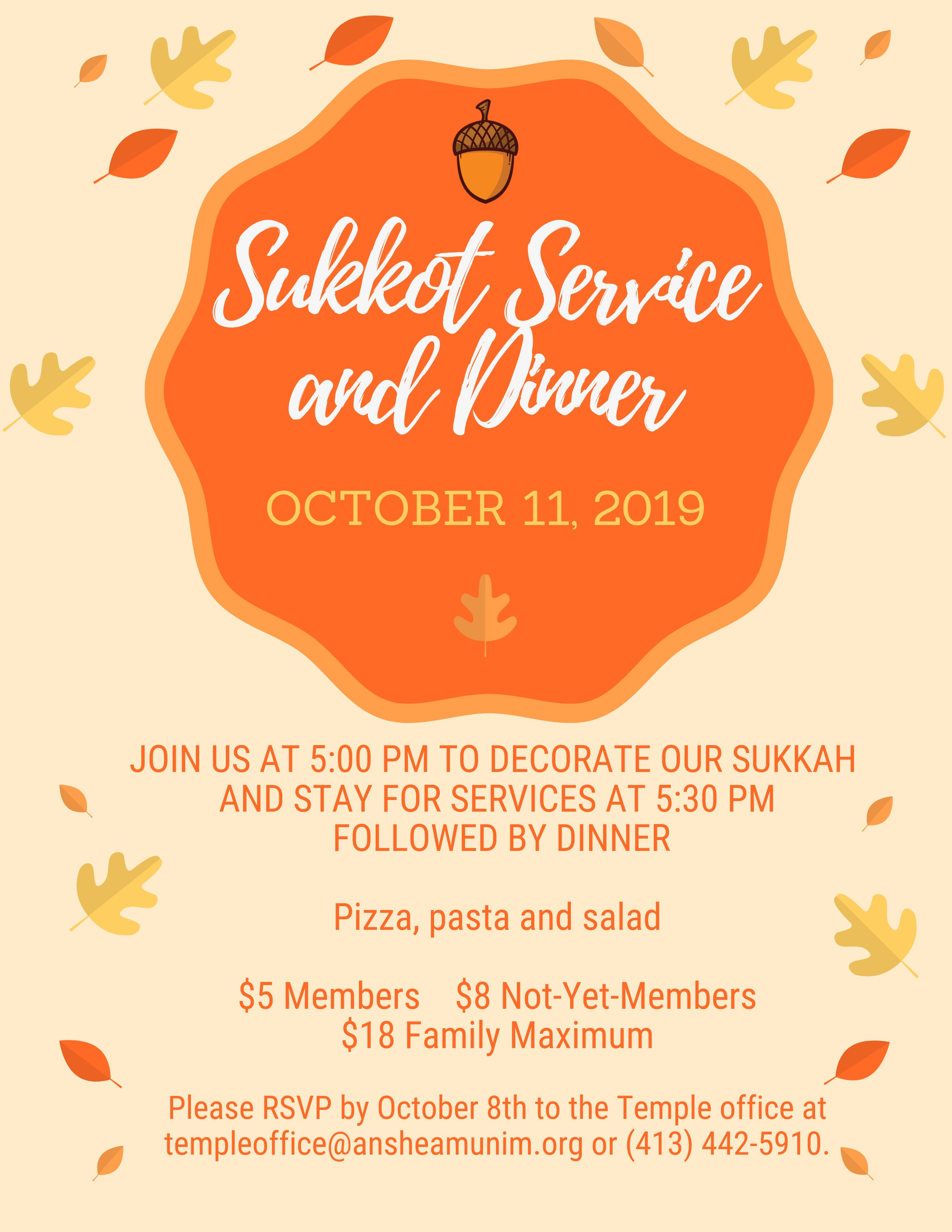 Banner Image for Sukkot Service and Dinner