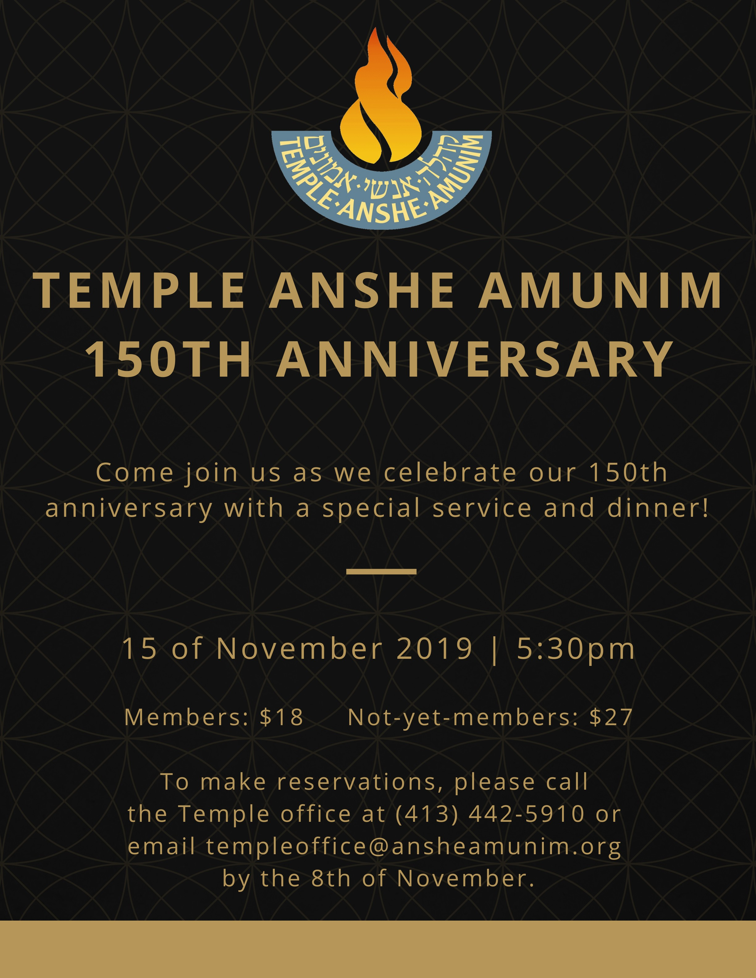 Banner Image for TAA's 150th Anniversary Service and Dinner